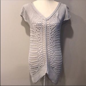 Soft Surroundings Camille Knit Crochet Sweater